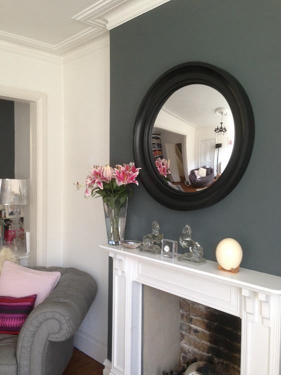 black convex mirror image