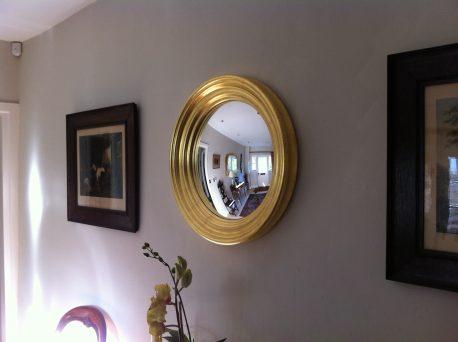 gold leaf convex mirror