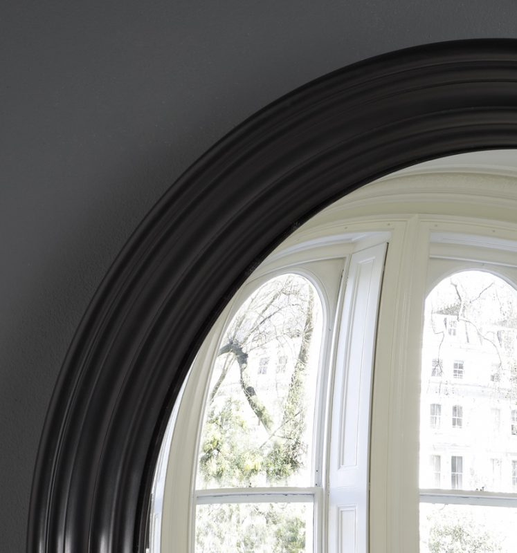 Large Roma convex mirror in waxed black image