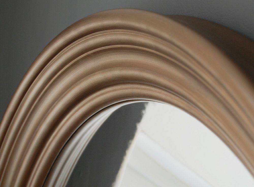Large Round Convex Mirror Hand Finished Omelo Mirrors