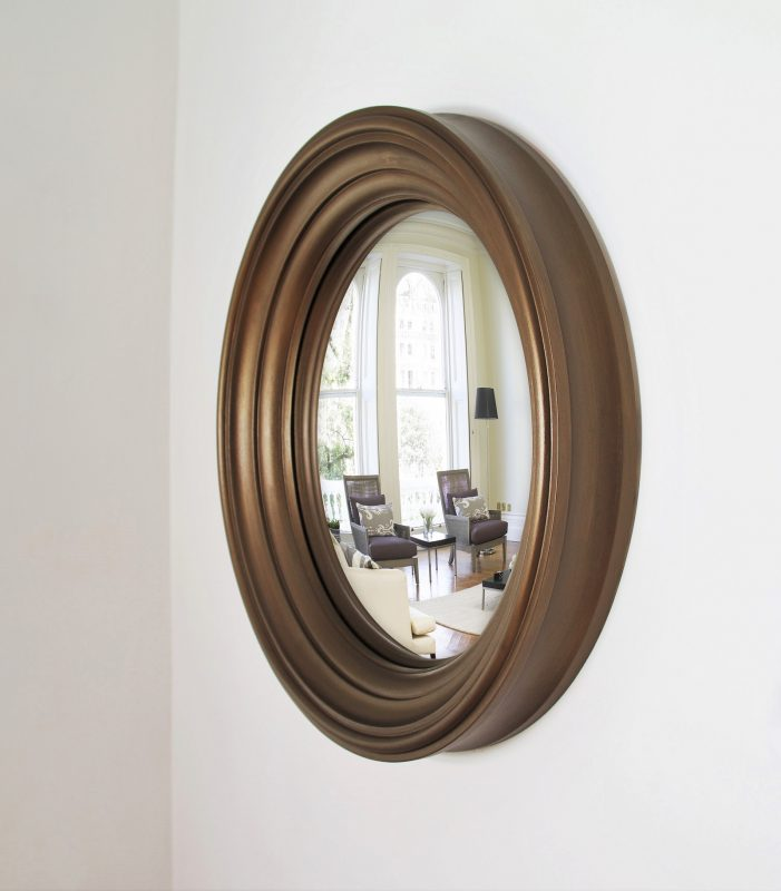 Medium Lucca convex mirror in bronze finish image