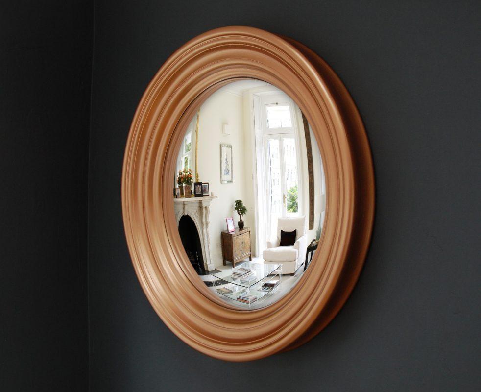 Medium Roma convex mirror in copper finish image