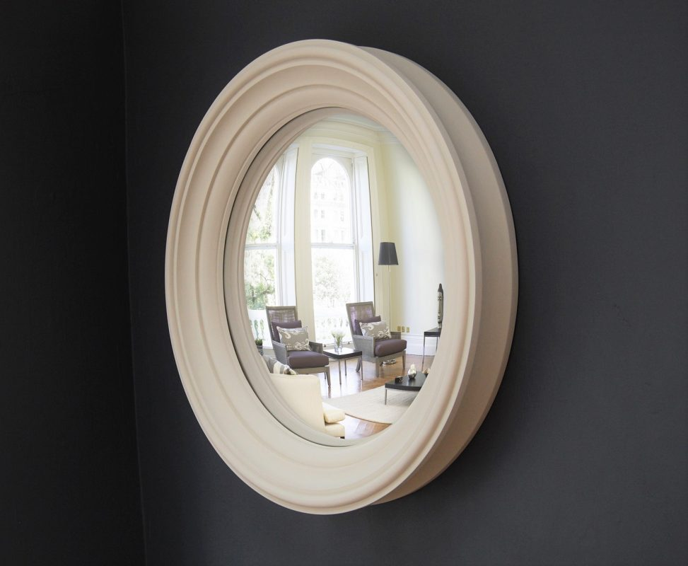 Medium Lucca convex mirror in fawn finish image