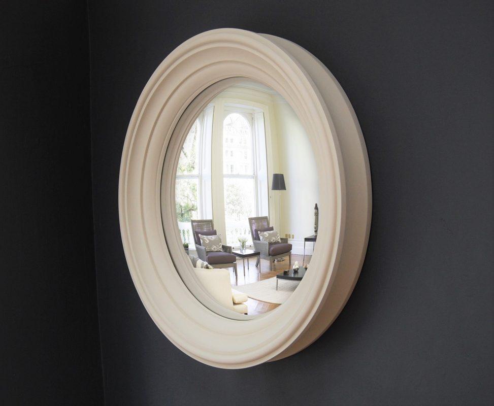 Medium Lucca convex mirror in fawn finish image
