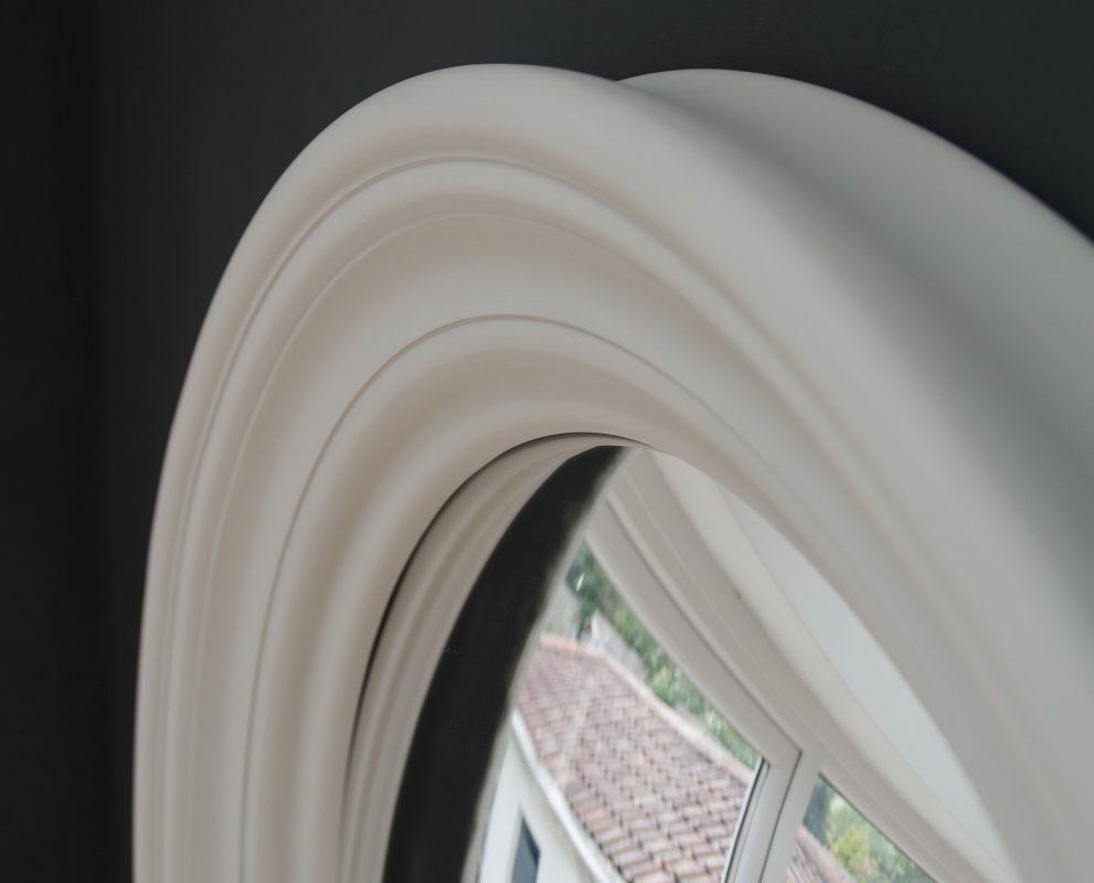 Medium Roma convex mirror in palest grey image