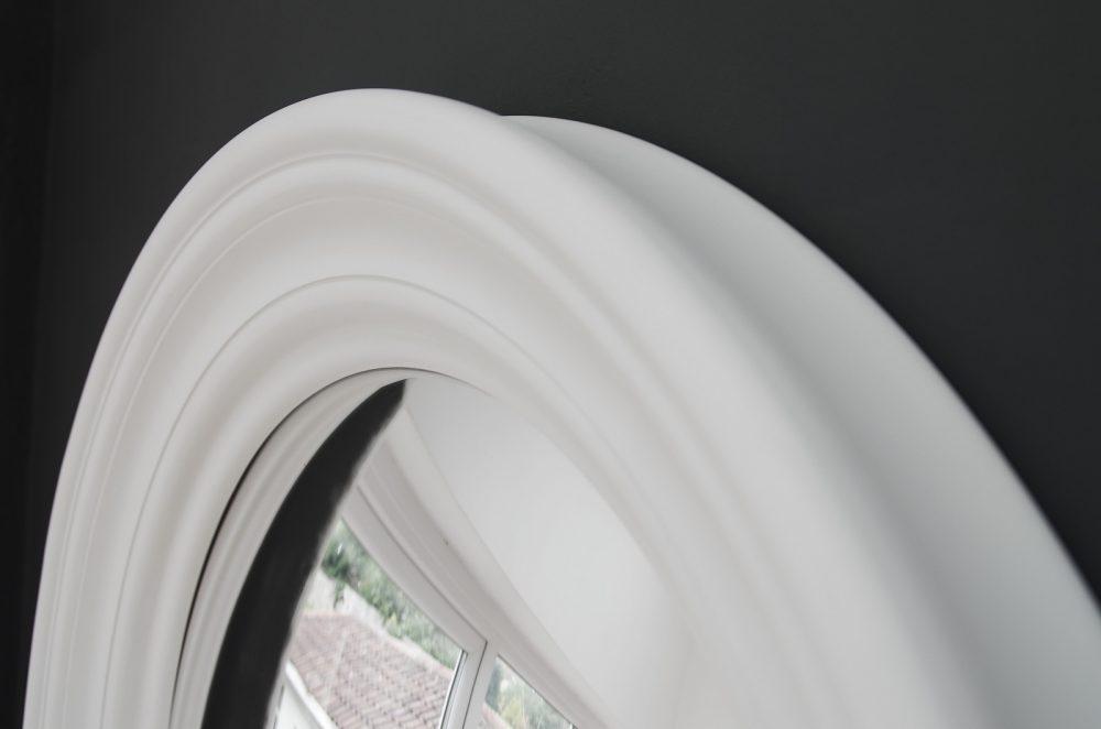 Medium Roma convex mirror in off white image