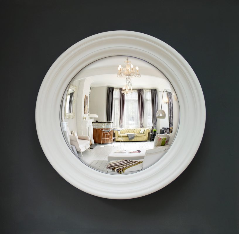 Medium roma convex mirror bespoke colours available for Large white decorative mirror