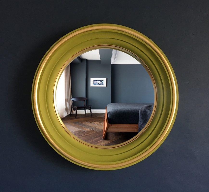 brass convex mirror image
