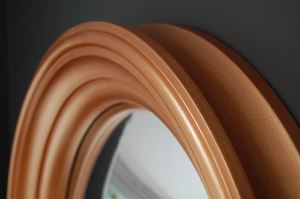 Medium Lucca convex mirror in copper image