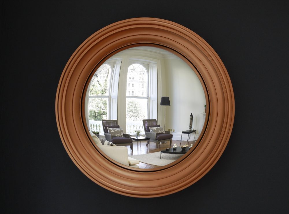Medium Lucca convex mirror in copper finish image