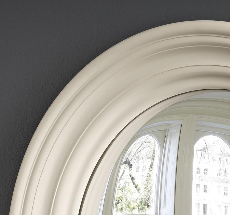 Medium Roma convex mirror in fawn image