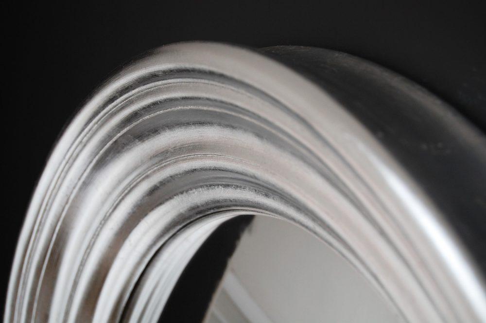 Roma convex mirror in silver leaf image