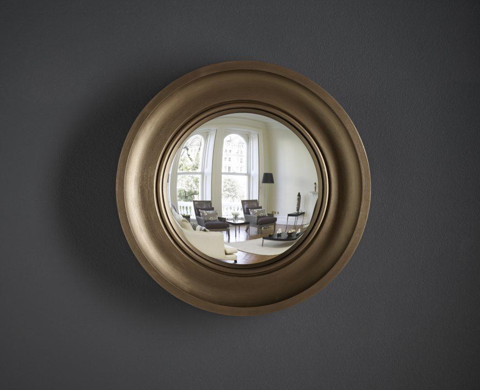 Small Cavetto convex mirror in bronze image
