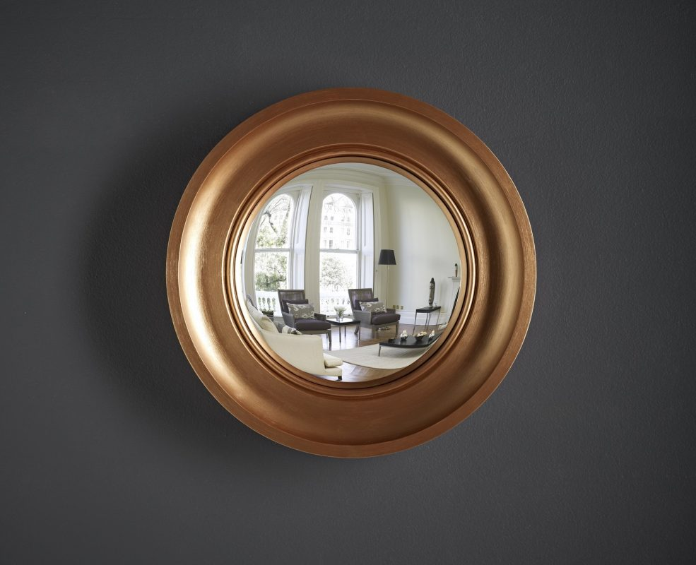 Cavetto Convex Mirror Bronze Finish