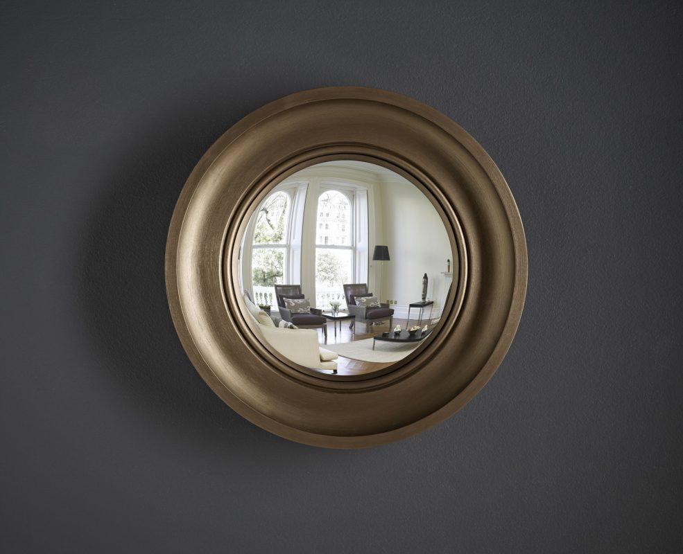 Cavetto Convex Mirror in Bronze Finish image