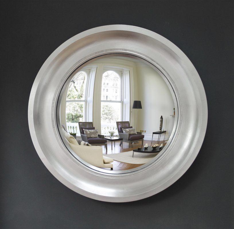 Medium Cavetto Convex Mirror Silver Leaf image