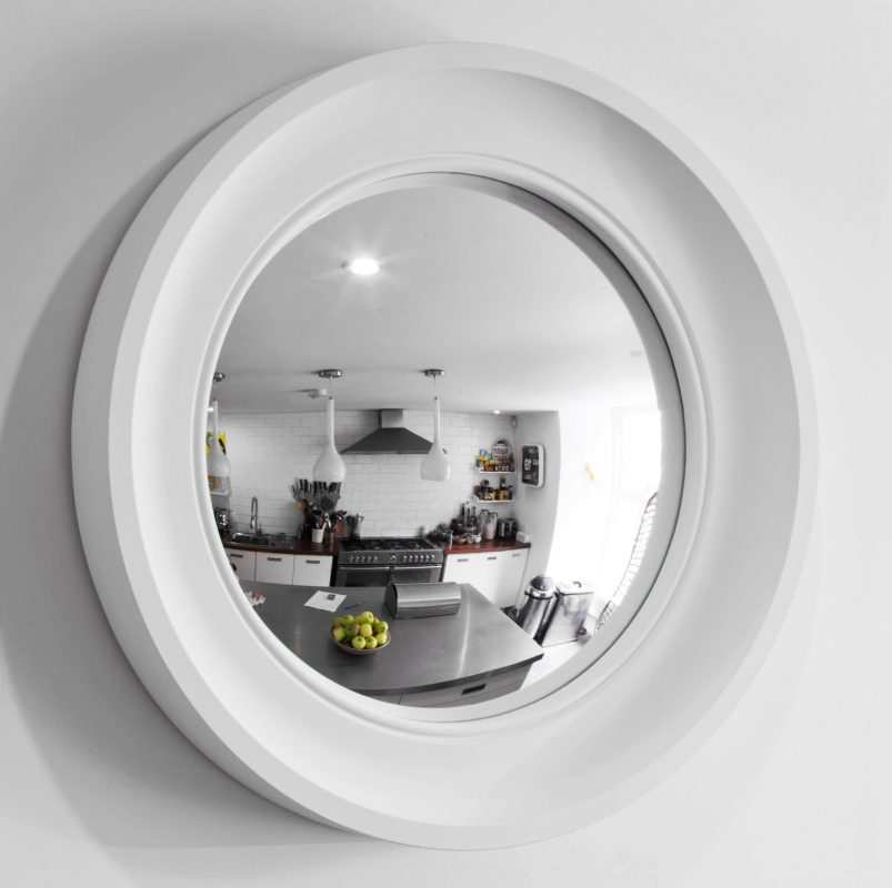 convex mirror in off white image