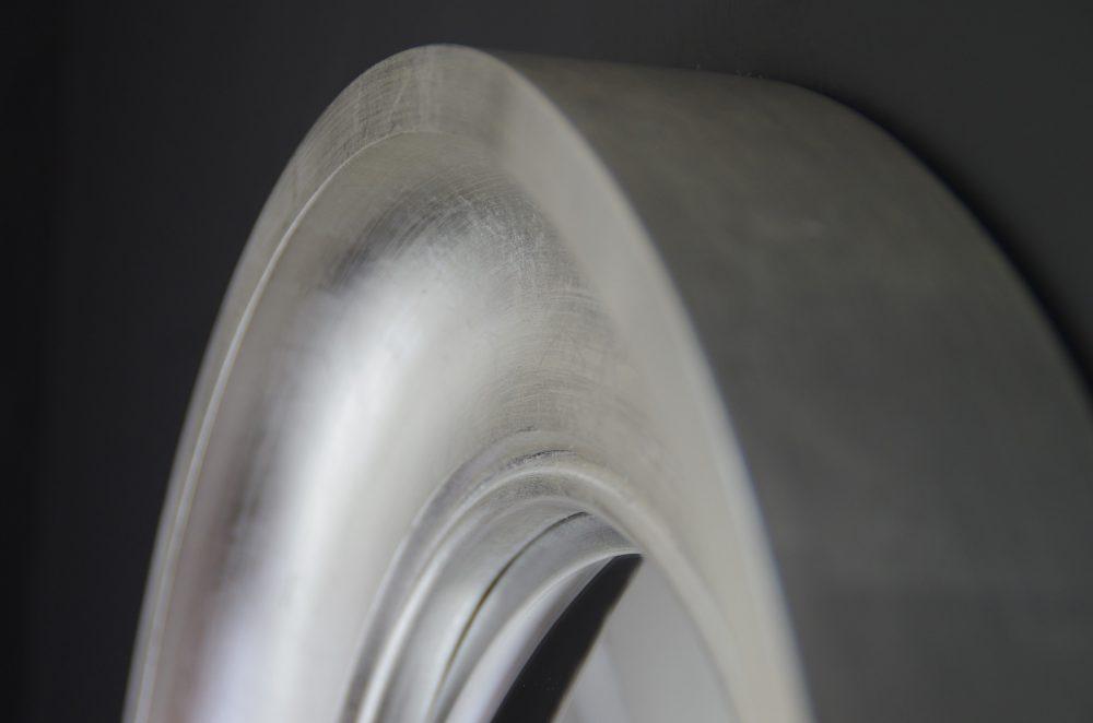 Image of small Cavetto convex mirror in silver leaf