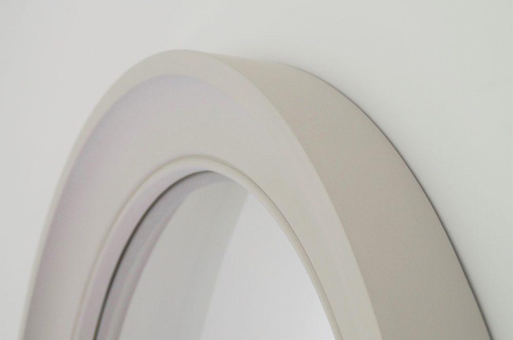 Large Cavetto decorative convex mirror in palest grey image