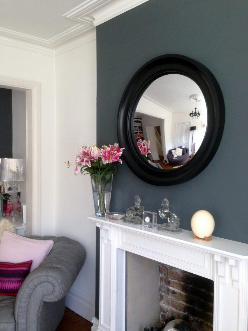 black convex fisheye mirror