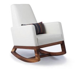 Modern nursing chair with rocking motion