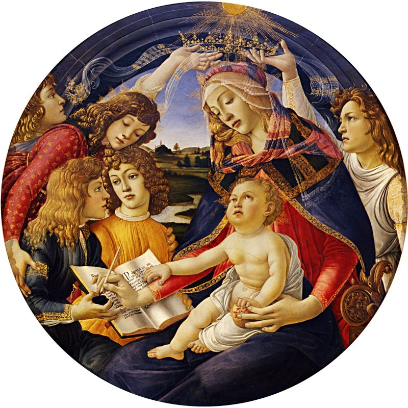 the convex mirror in renaissance art Madonna of the Magnificat image