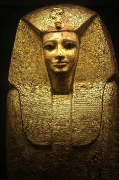 Gilded Ancient Egyptian sarcophagus