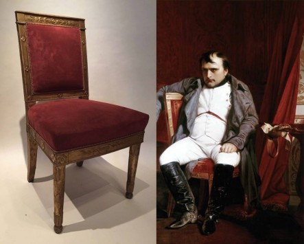 Gilded Wood Chair, Empire style, Paris 1805
