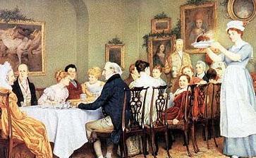 butler's mirror in regency dining room image