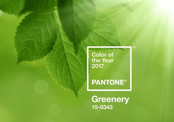 pantone greenery image