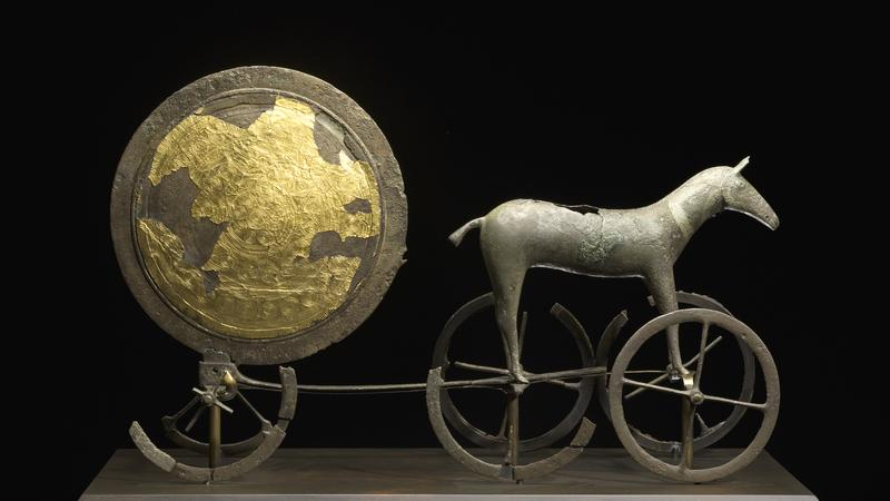 sun chariot in gold image