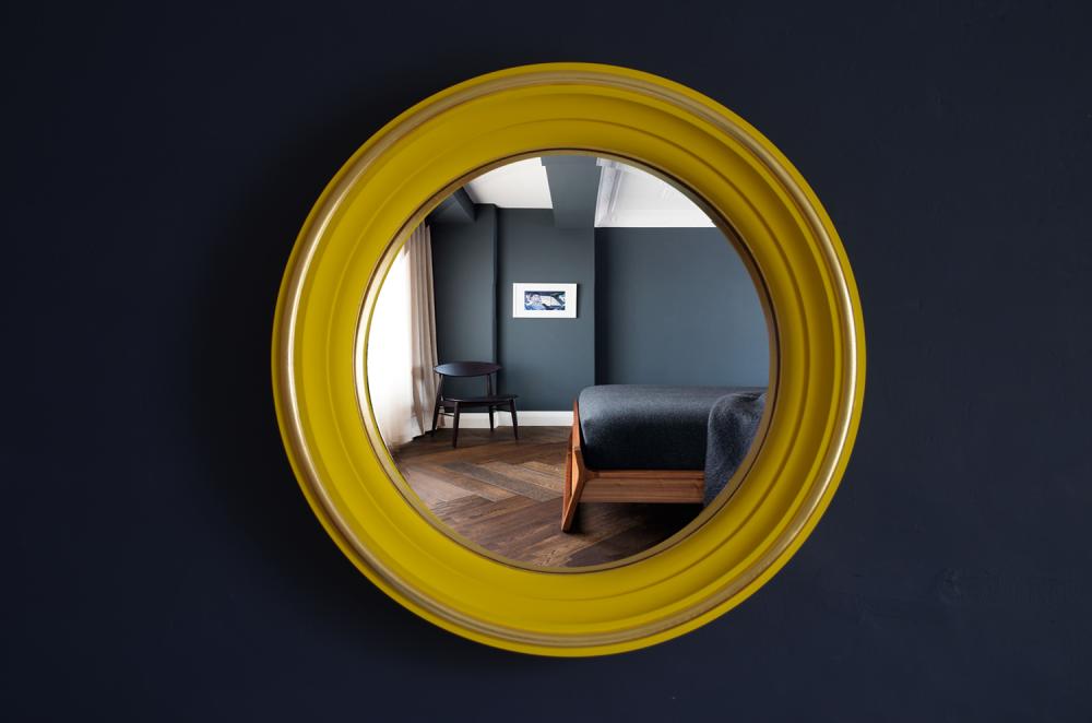 round decorative fish eye convex mirror image