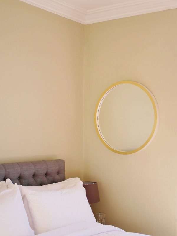 gold leaf and gesso round mirror image