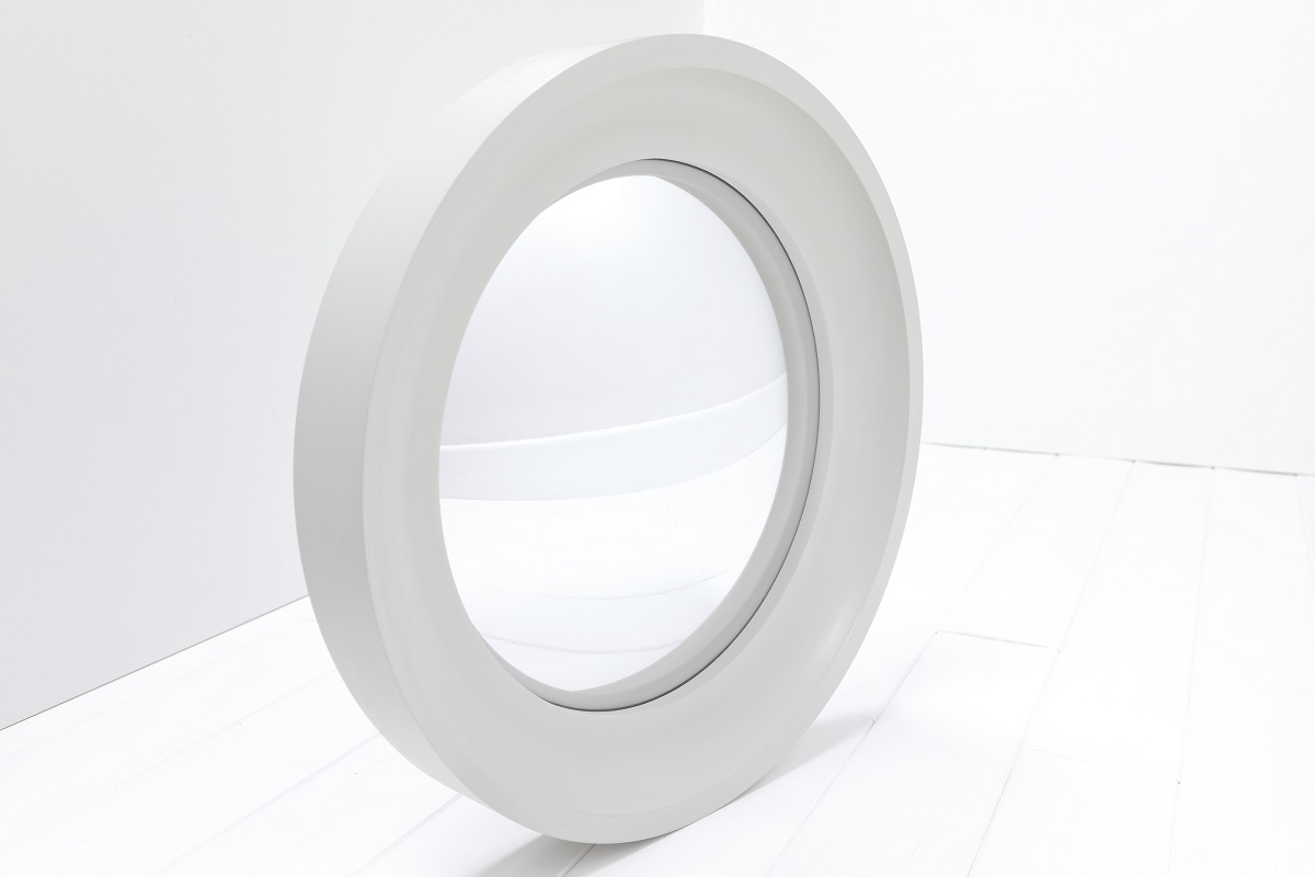 Round mirror in French Grey image