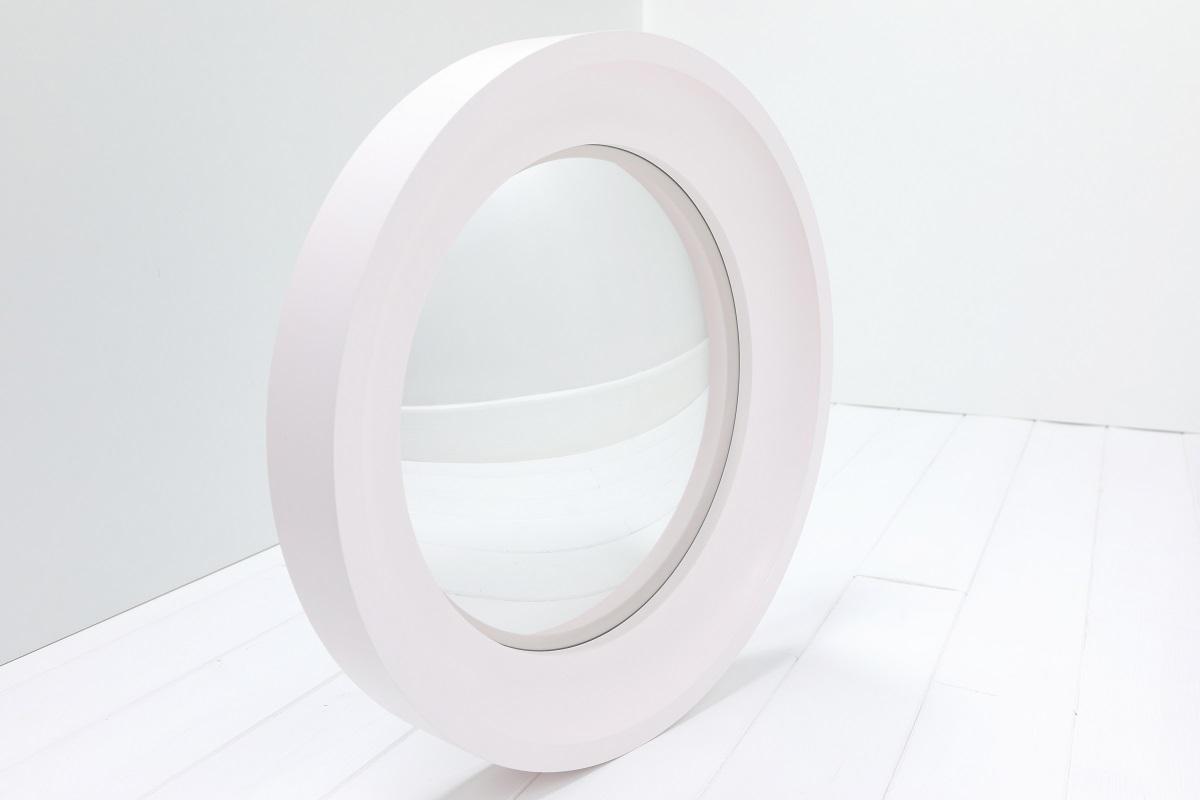 round convex mirror in Dorchester Pink image