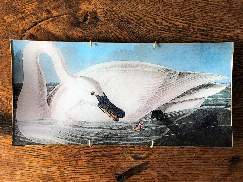 swan decoupage plate image