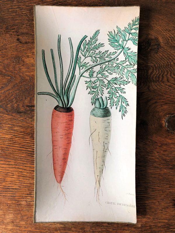 carrots decoupage plate image