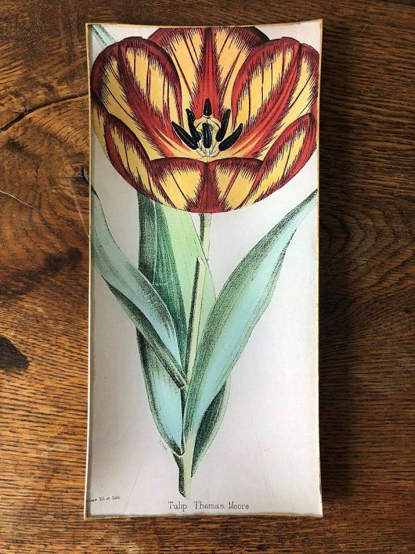 tulip decoupage plate image