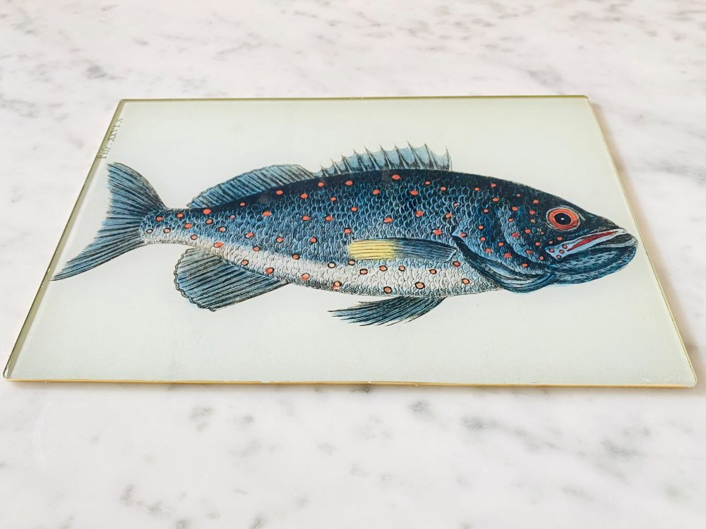 fish decoupage glass placemat image